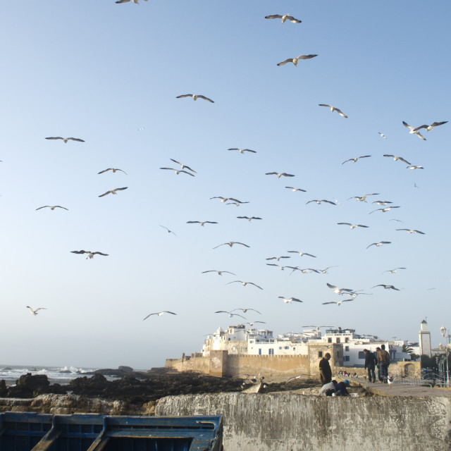 """Essaouira in Flight"" stock image"