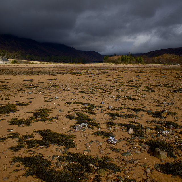 """Applecross Bay at low tide"" stock image"