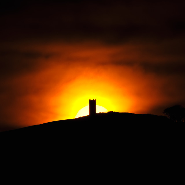 """Blacko Tower Sunset"" stock image"