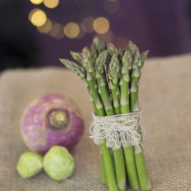 """Fresh green asparagus"" stock image"