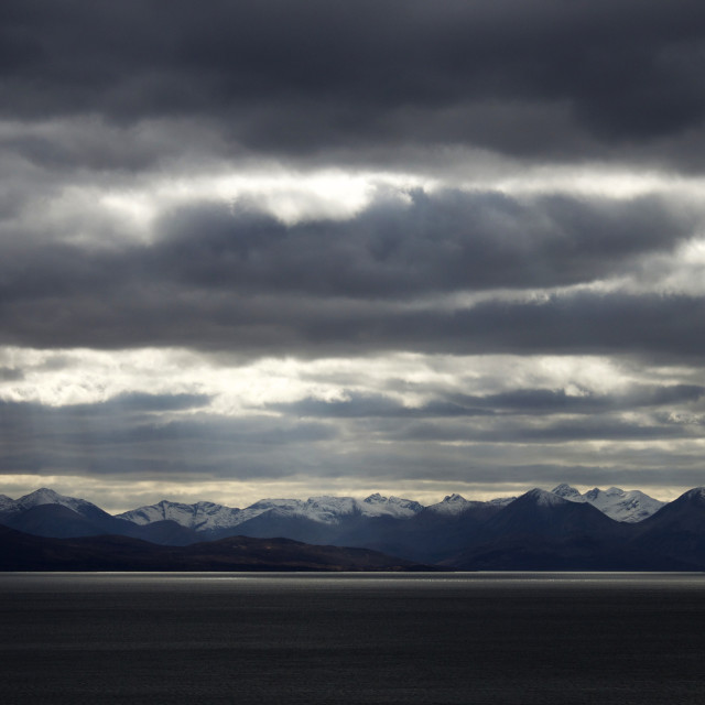 """Snowcapped Cuillins"" stock image"