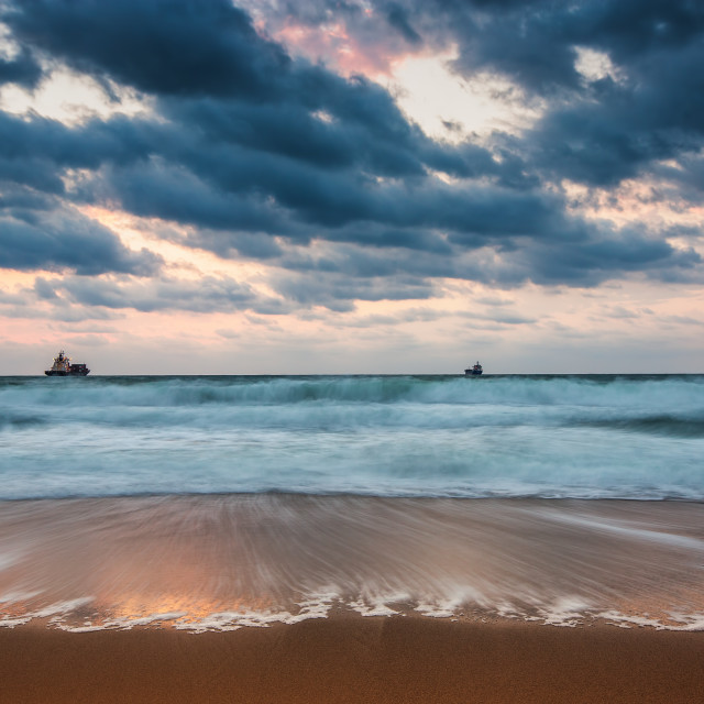 """Dramatic cloudscape over the sea"" stock image"