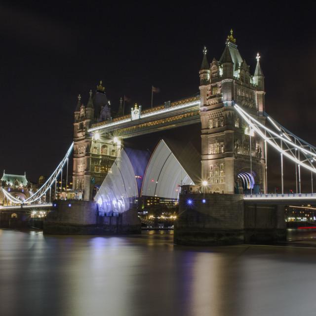 """Tower Bridge Lightsabers #1"" stock image"