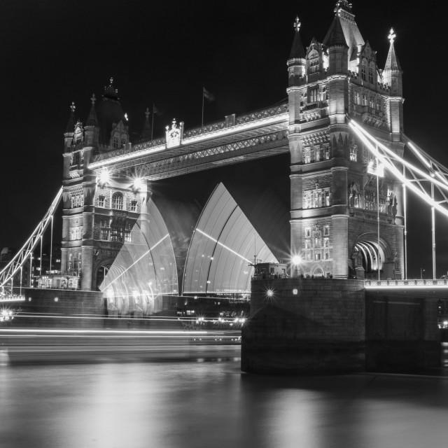"""Tower Bridge Lightsabers #2"" stock image"
