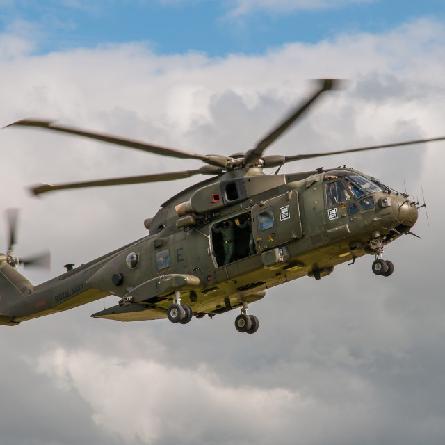 """Royal Navy Merlin HC.3 Helicopter"" stock image"