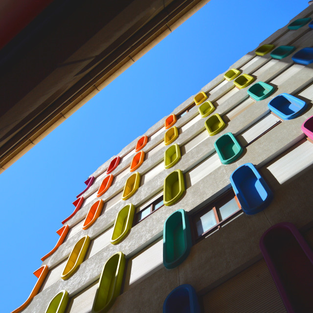 """Colored windows"" stock image"