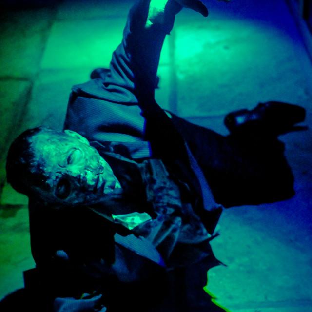 """Crawling zombie"" stock image"