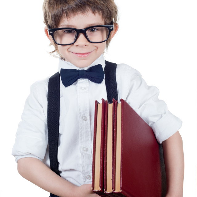 """Child student looking at camera"" stock image"