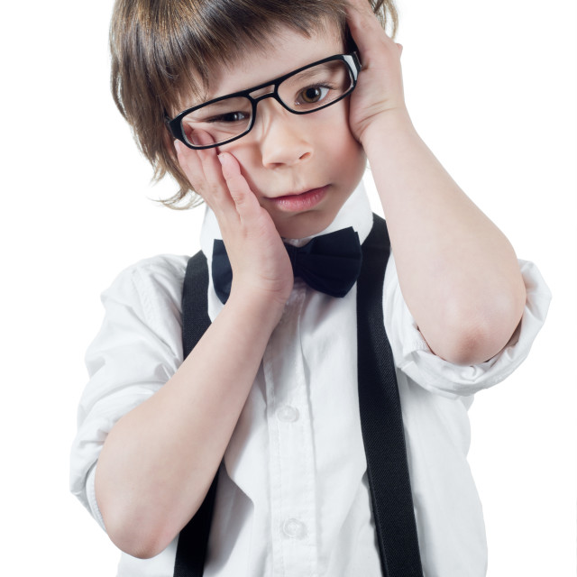 """Confused child"" stock image"