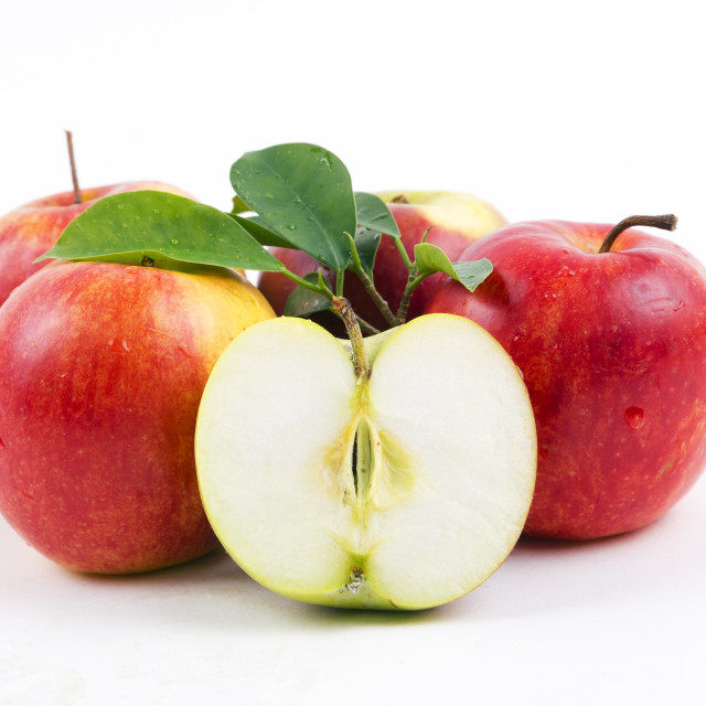 """Fresh apples with half"" stock image"