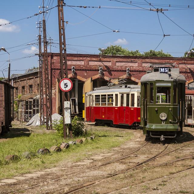 """Antique tram station"" stock image"