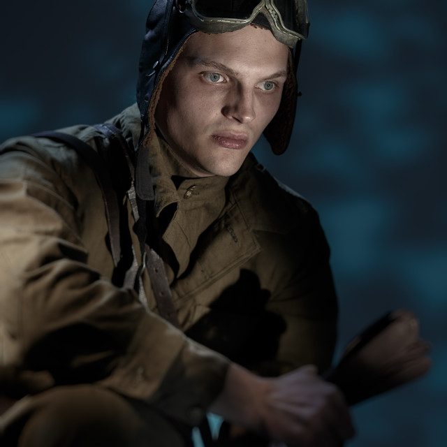 """""""Russian pilot of the Second World War."""" stock image"""