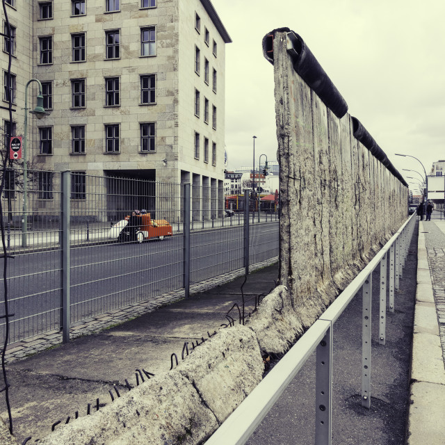 """Berlin Wall - both sides now..."" stock image"