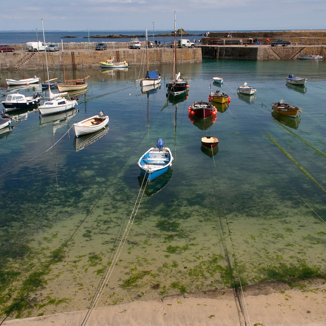 """Mousehole Harbour, Cornwall"" stock image"