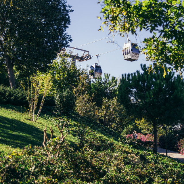 """""""Cable Car Montjuic"""" stock image"""