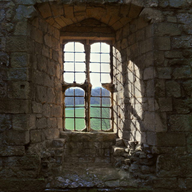 """window Helmsley castle,Yorkshire."" stock image"