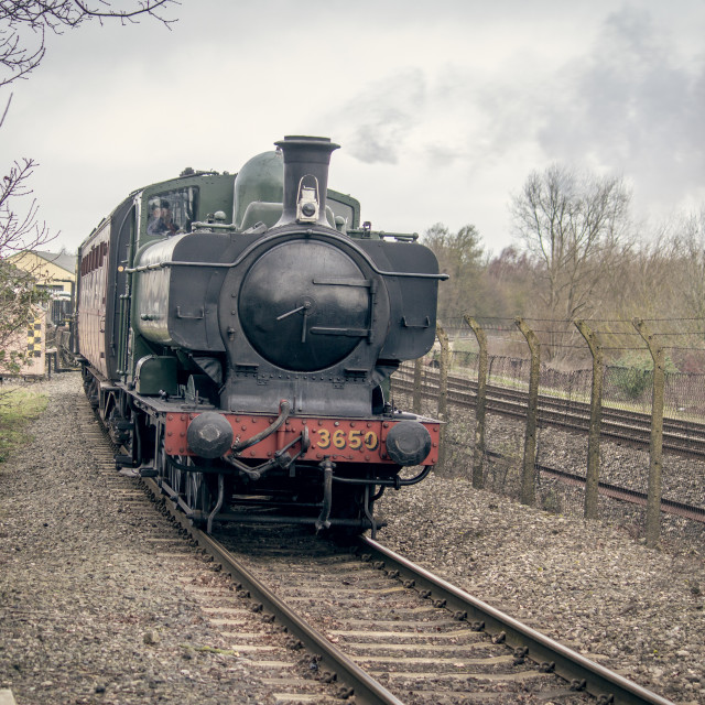 """GWR Pannier Tank Engine"" stock image"