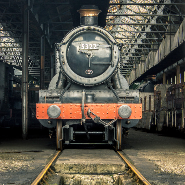"""GWR Engine Shed"" stock image"