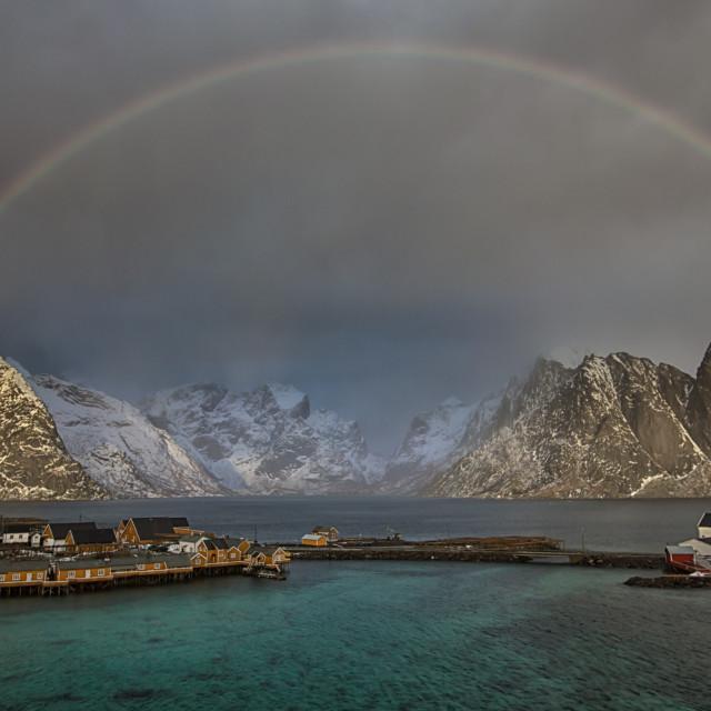 """""""Sakrisøy rainbow"""" stock image"""