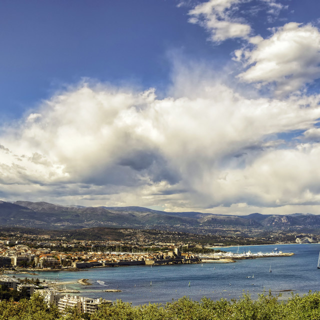 """View of Antibes"" stock image"