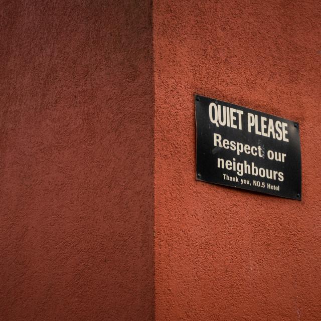 """""""Quiet Please"""" stock image"""
