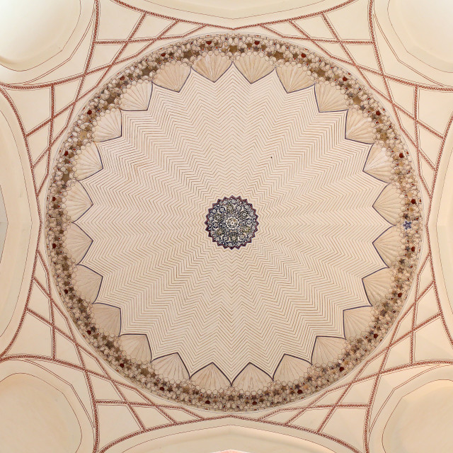 """INSIDE DOME OF HUMAYUN'S TOMB, NEW DELHI, INDIA"" stock image"