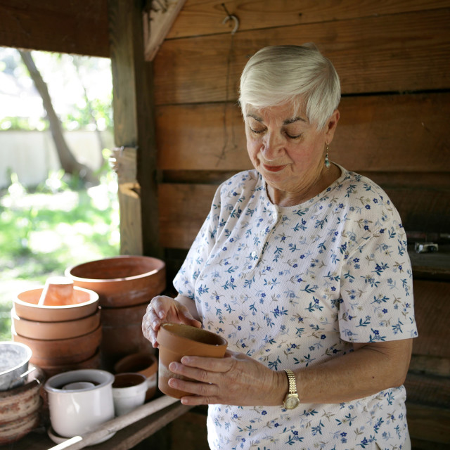 """In The Potting Shed"" stock image"