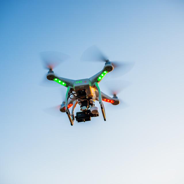 """Varna, Bulgaria - July 05 ,2015: Flying drone quadcopter Dji Pha"" stock image"