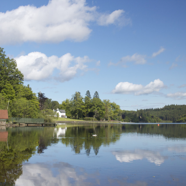 """Loch Ard reflections"" stock image"