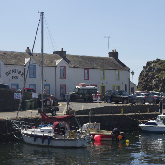 """Dunure harbour"" stock image"