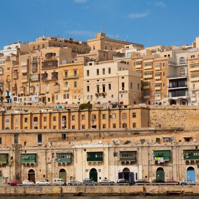 """""""Valletta waterfront"""" stock image"""