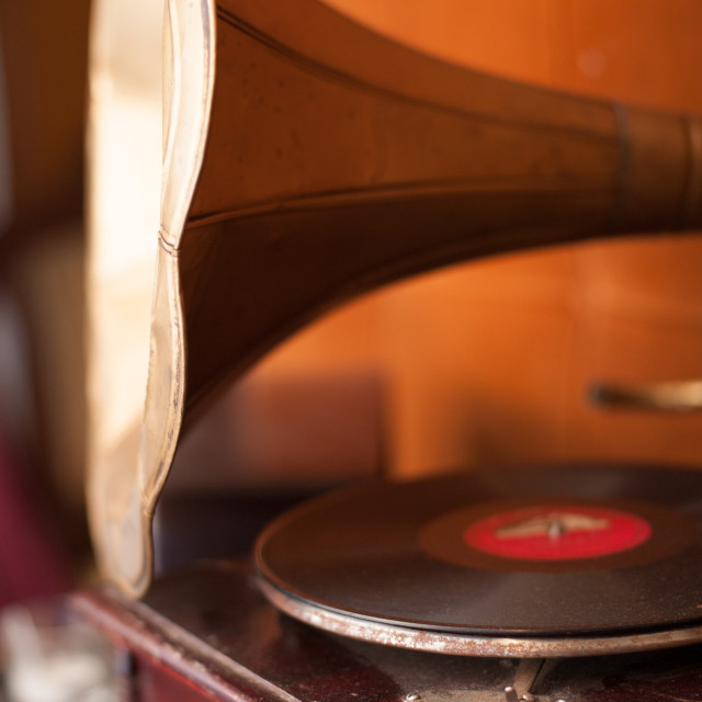 """""""Horn and gramophone"""" stock image"""