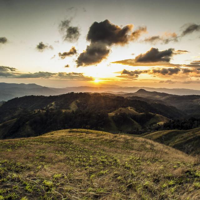 """Sunrise in Ta Nang - Lam Dong - Viet Nam"" stock image"