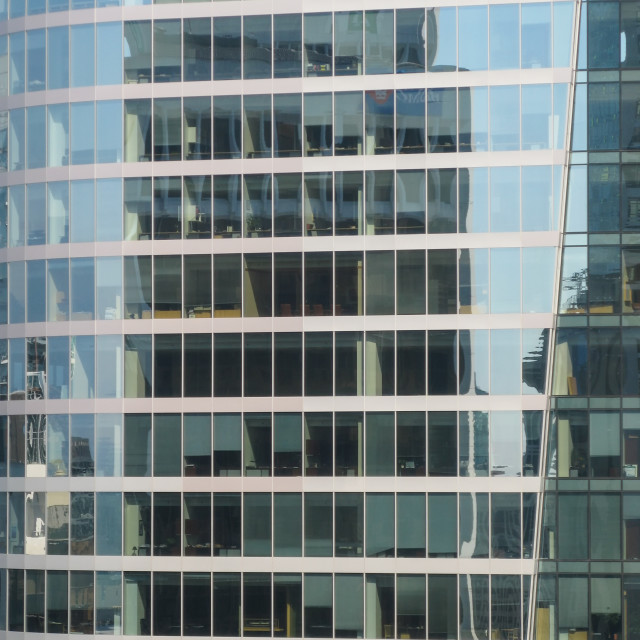 """Glass facade of an office building"" stock image"