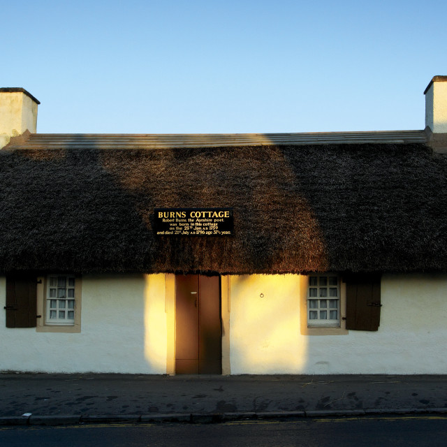 """Burns Cottage Alloway"" stock image"