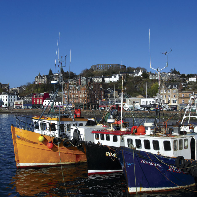 """Oban Harbour"" stock image"