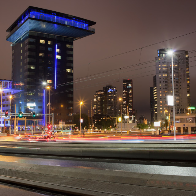 """City of Rotterdam at Night"" stock image"