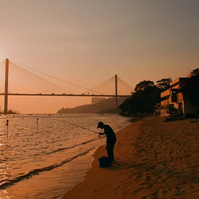 """""""Approach Beach, Hong Kong"""" stock image"""