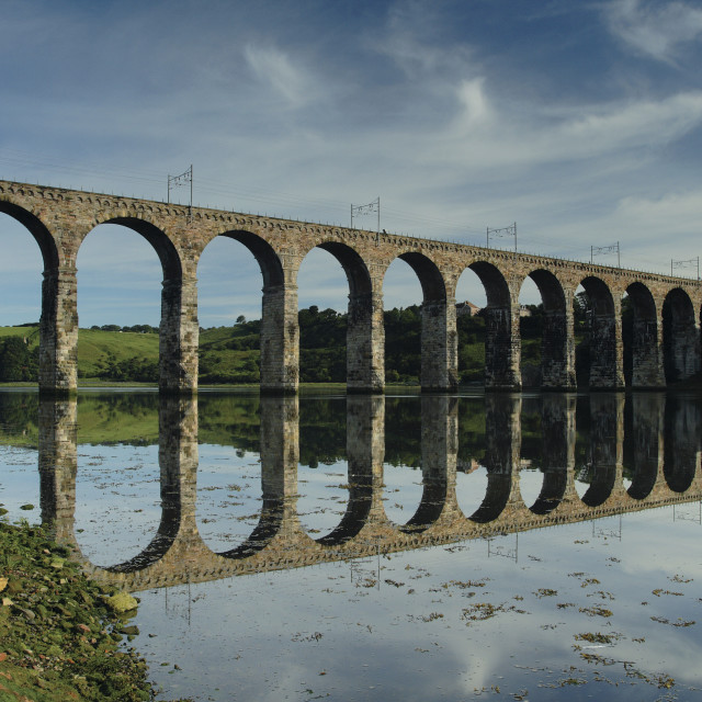 """Royal Border Bridge"" stock image"