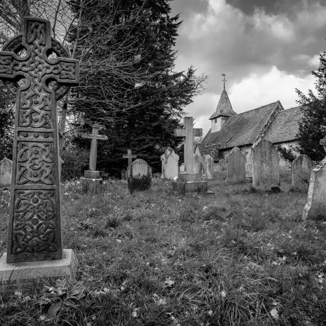 """Pyrford Church"" stock image"