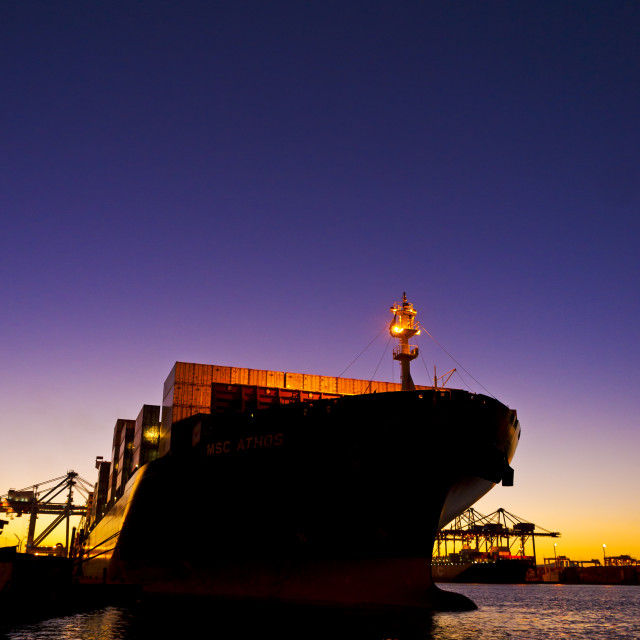 """At the Port"" stock image"