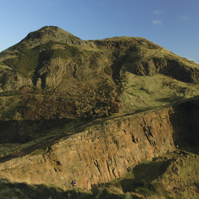 """Arthur's Seat and Salisbury Crags"" stock image"
