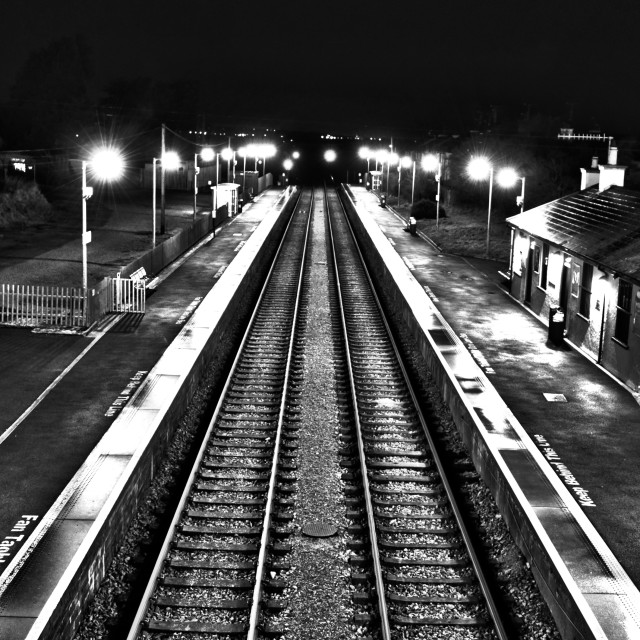 """Lonely Train Station"" stock image"