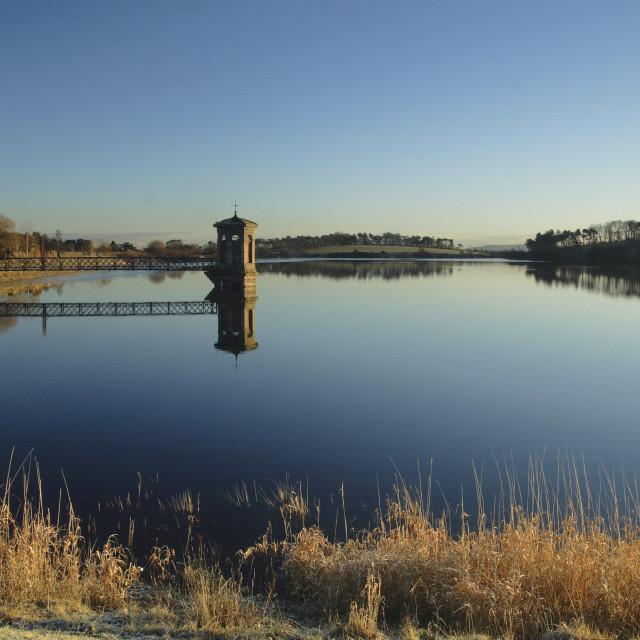 """Waulkmill Reservoir"" stock image"