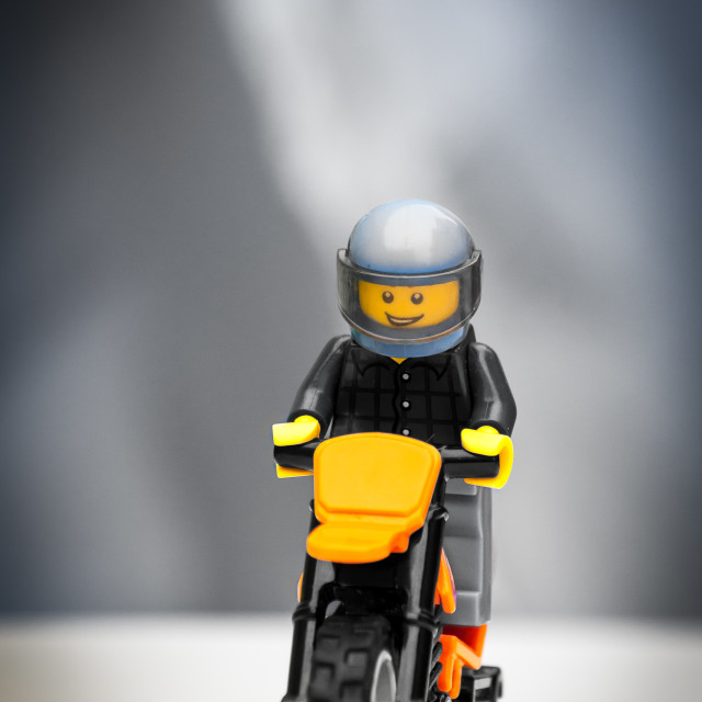 """Lego Motorcycle"" stock image"