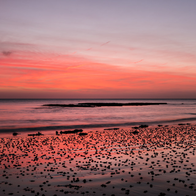 """""""Dawn at Broadstairs."""" stock image"""