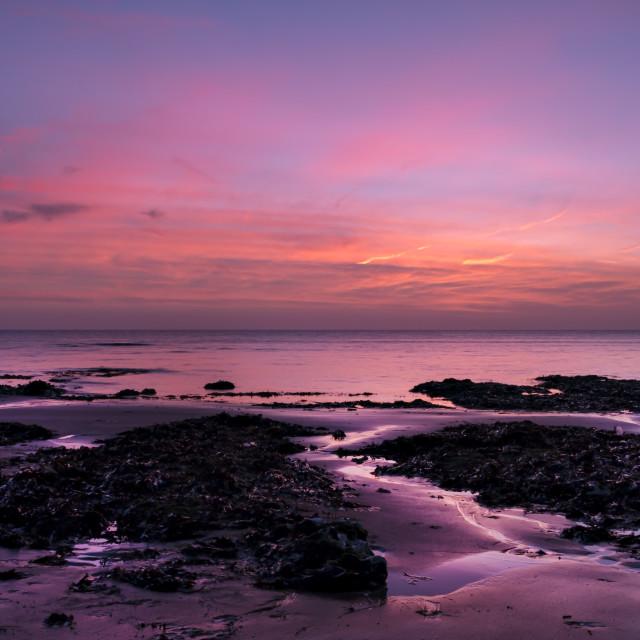 """Daybreak at the beach."" stock image"