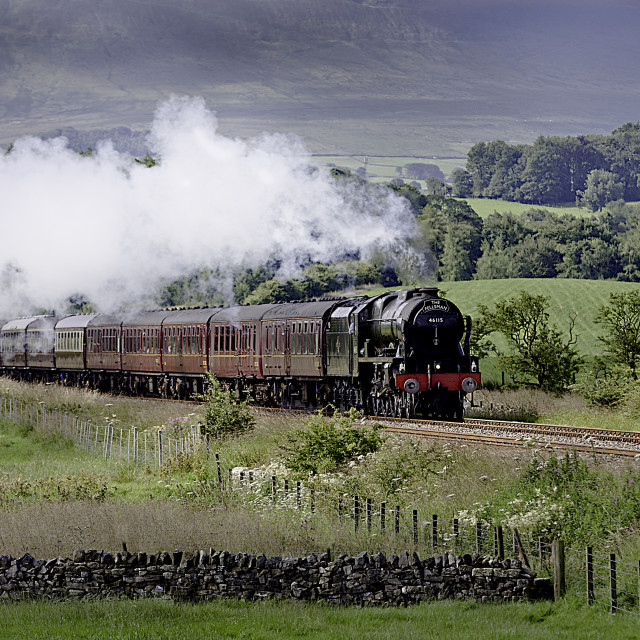 """The fellsman tour, steam train."" stock image"
