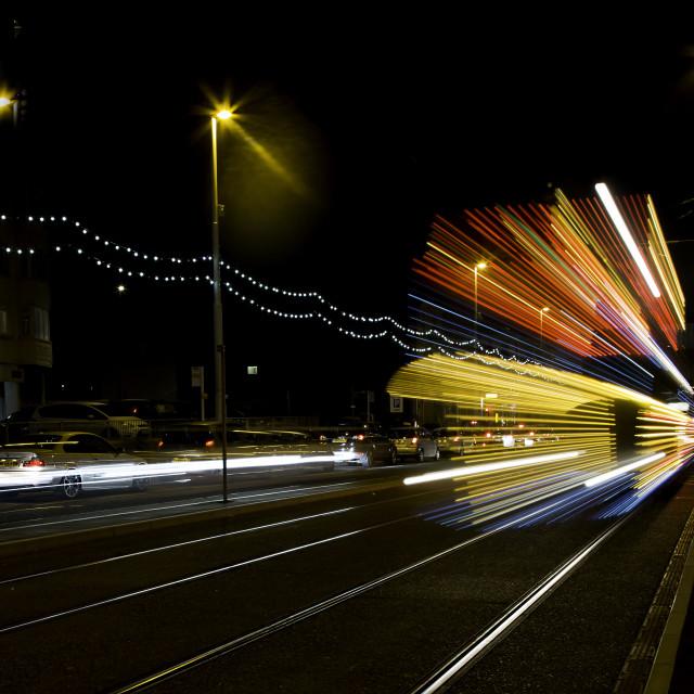 """Blackpool tram."" stock image"