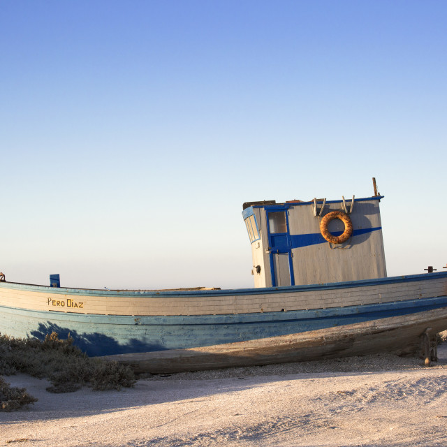 """Pero Diaz stranded at Diaz Point, Namibia"" stock image"